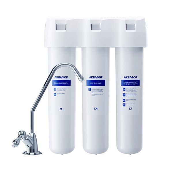 Проточная система Аквафор Кристалл А для жесткой воды